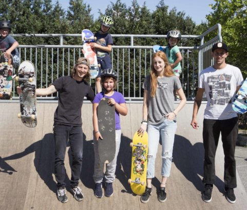 Skateboard Workshop mit David Heuberger und Kenneth Auer