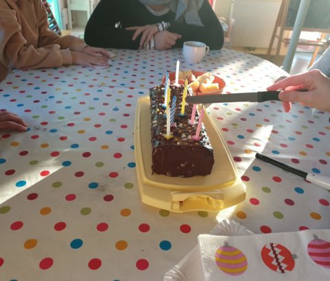 Geburtstagsfeier in der HG-Siedlung