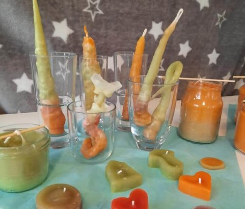 Kerzenziehen im Mädchencafe
