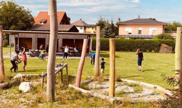 Eröffnung des neuen Kinder- und Jugendplatz in der Heimkehrersiedlung